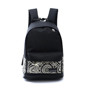 Backpack Men  Women Bags Unisex Canvas  Backpack School Book Boys Girls Casual Solid