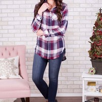 DCCKGE8 Plaid Button Up Shirt- 2 Options