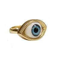 Blue Eye Ball Ring | VidaKush