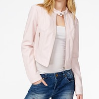 GUESS Natalie Perforated Faux-Leather Moto Jacket
