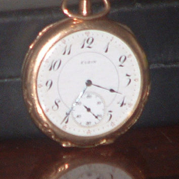 Pre Owned Antique 1913 Elgin 10Kt GF Pocket Watch