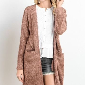 Luxe Winter Fuzzy Cardigan