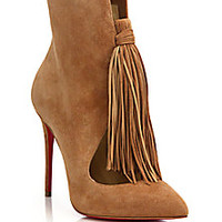 Christian Louboutin - Fringed Suede Booties - Saks Fifth Avenue Mobile