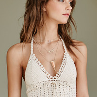 Kendall and Kylie Crochet Tie Back Cropped Bikini Top at PacSun.com