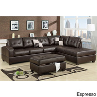 Berane Reversible All Around Bonded Leather Sectional Couch | Overstock.com Shopping - The Best Deals on Sectional Sofas
