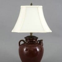 "23"" Elegant Red SM Tea Jar Table Lamp"