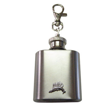 Sail Fish Pendant 1 oz. Stainless Steel Key Chain Flask