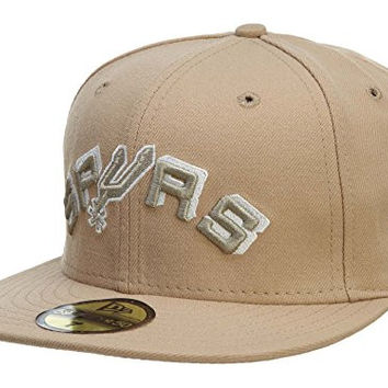 New Era San Antonio Spurs Fitted Hat Mens Style: HAT757-PEACH/LIGHT GOLD Size: 7 5/8