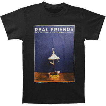 Real Friends Men's  Maybe This Place Is The Same T-shirt Black Rockabilia