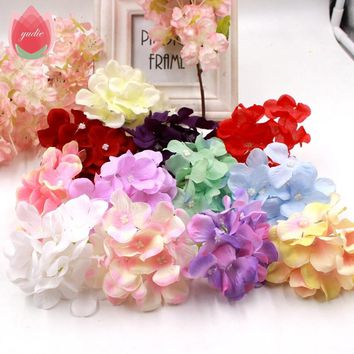 1pcs High-Quality Hydrangea Artificial Flower For Bride Wedding Home Party Room Decoration DIY Scrapbooking Craft Fake Flowers
