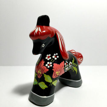 Russian Wooden Horse Figurine