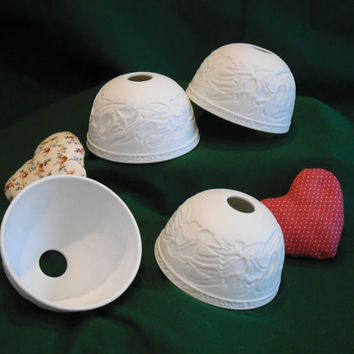 Ceramic Light Shades Globes Four Lamp Shades Supply Craft Up Cycle