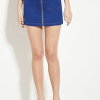 Zippered Denim Skirt