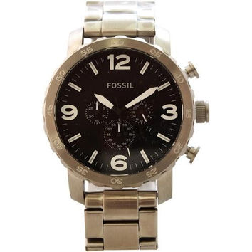 Fossil - JR1353P Nate Chronograph Stainless Steel Watch