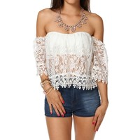 Sale-off The Shoulder Crop Top