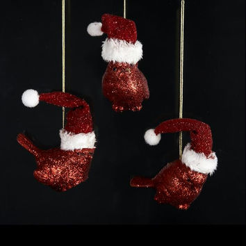 12 Christmas Ornaments - Red Cardinals
