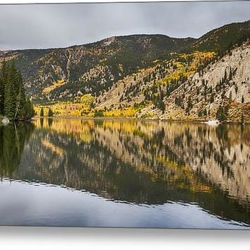 Colorado Autumn Fishing Lake Reflections Acrylic Print