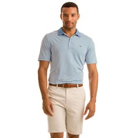 Custom Porter Stripe Performance Polo in Ocean Breeze by Vineyard Vines