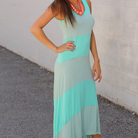 Stripe On Down Maxi, Mint