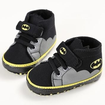 Batman Dark Knight gift Christmas 2018 Best Seller Boys Fashion Sneakers Cute Batman Big Hero Baby Shoes Fashion Baby Accessories Sale Free Shipping Dropshipping AT_71_6