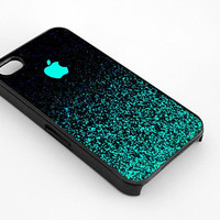 Mint Sparkle Apple logo for iphone 4/4s case, iphone 5/5s/5c case, samsung s3/s4 case cover
