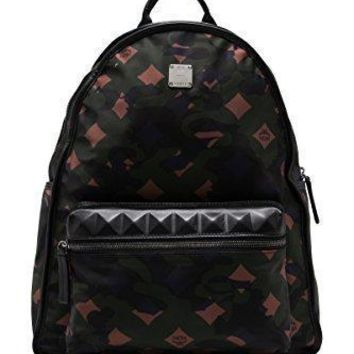 Mcm Unisex Dieter Munich Lion Camo Nylon Medium Backpack