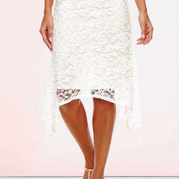Celine Lace Handkerchief Skirt