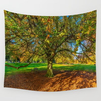 Autumn Leaves Wall Tapestry by kasseggs