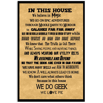 Harry Potter- IN THIS HOUSE WE DO GEEK -Poster 18x24 - SSID2016