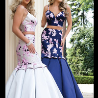 Two Piece Rachel Allan Prom Dress 7069
