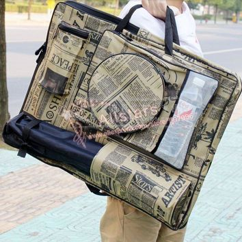 Free shipping 4K newspaper sketchpad bag graphics drawing tablet bag art set school supplies art supplies J-0551