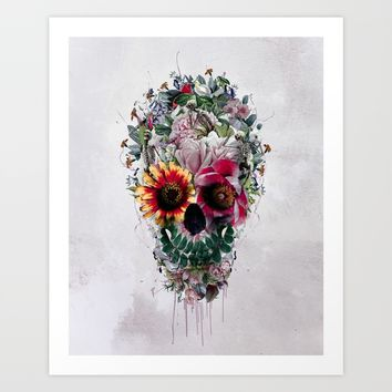 Sugar Skull Art Print by RIZA PEKER