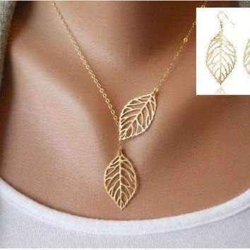 Seasons of Beauty Leaf Cut Out Necklace or Earrings
