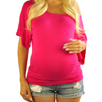 Too Jewel For School Pink Maternity Top