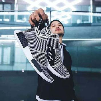 with box nmd runner pk city sock men women classic running shoes fashion primeknit nmd grey black sports sneakers boots trainers eur 36 44