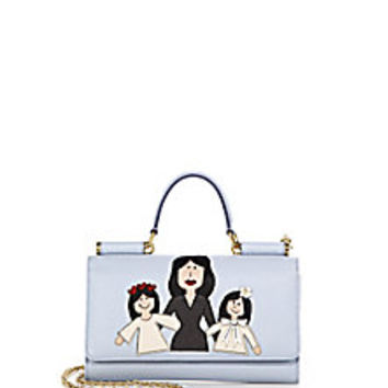 Dolce & Gabbana - Mother & Daughters Textured Leather Chain Wallet - Saks Fifth Avenue Mobile