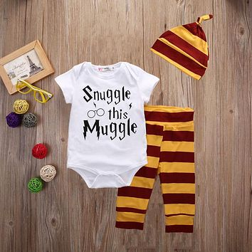 Snuggle on this muggle baby outfit set