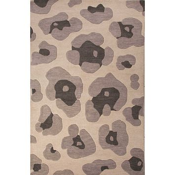 Jaipur National Geographic Tufted Leopard Area Rug