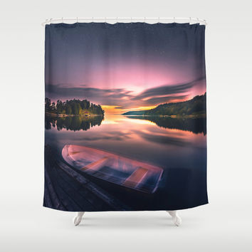 The old man and the sea Shower Curtain by HappyMelvin