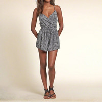 Patterned Strappy Romper