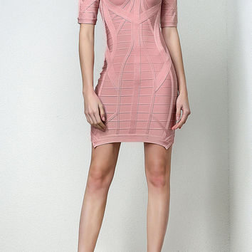 Rena Short Sleeve Bandage Dress