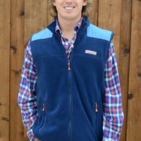 Vineyard Vines Fleece Shep Vest- Deep Bay