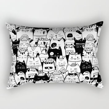 Itty Bitty Kitty Committee Rectangular Pillow by noondaydesign