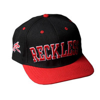 Young & Reckless Block Snapback Hat - Black / Red