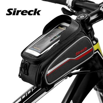 """Sireck Bicycle Bag 6.0"""" Saddle Phone Case Touch Screen MTB Cycling Top Tube Bag Front Road Bycicle Bike Bag Bicycle Accessories"""