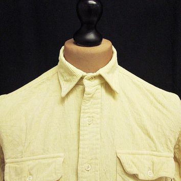 Vintage Corduroy Cord Hunting Ralph Lauren Polo On Trend Hipster Shirt M