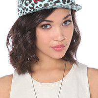 Crooks and Castles Cap No Love in Tiffany Black Cheetah