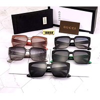 GUCCI 2019 new lightweight men and women box polarized sunglasses
