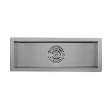 DAX-SQ-2385 / DAX HANDMADE UNDERMOUNT BAR SINK, 16 GAUGE STAINLESS STEEL, BRUSHED FINISH