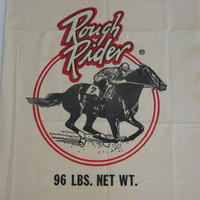 Vintage Reproduction Feed Sack Rough Rider Race Horse Oats